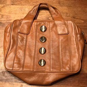 Bryna Nicole cognac Leather Satchel
